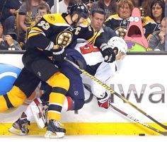 Down goes Ovechkin courtesy of Chara. With a cameo by Patrick