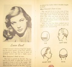 How to pin curl your hair like Lauren Bacall