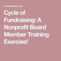 A Nonprofit Board Member Training Exercise Nonprofit Fundraising, Fundraising Ideas, Church Fundraisers, Board Member, Social Enterprise, Day Work, Non Profit, Exercise, Money