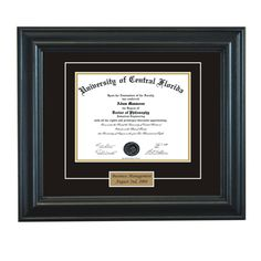 Personalized Diploma Frame on Etsy, $74.95