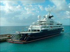 Another View Of Billionaire Paul Allens Mega Yacht