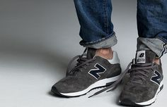 Because wearing socks and tying your shoes is so unhip... J.Crew X New Balance — 1400