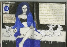 art journal 8 pages 67-68 on Flickr. I miss being called bruja.