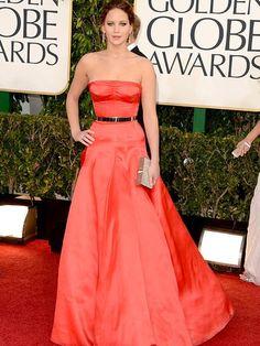 Jennifer Lawrence at the Golden Globe Awards 2013