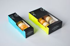 After helping Kitchening & Co. with their rebrand, David Arias set off to redesign their macaron packaging to reflect the brand's new look