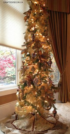 Slim trees in any corner or window add sparkle! crafteddecor.ca contact us for…