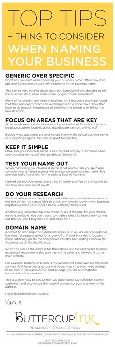 TOP TIPS + THINGS TO CONSIDER  WHEN NAMING YOUR BUSINESS  #entrepreneur #startup #business #branding