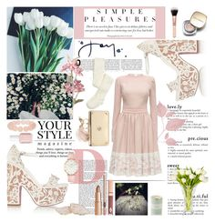 """""""Untitled #175"""" by pink-powder ❤ liked on Polyvore featuring Christian Louboutin, Kate Spade, Lattori, Dolce&Gabbana, Pussycat, Marquis by Waterford, Essie, Anna New York, CLUSE and Alexander McQueen"""