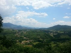 Landscape from the terrace of Vico nel Lazio
