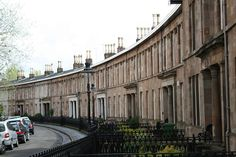 Millbrae Crescent (Langside, Glasgow), as viewed from Millbrae Road / Tantallon Road. Designed by Alexander 'Greek' Thomson.