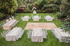 Glamorous Garden Wedding // Ruffled Blog // Wedding Caterer: Vibrant Table / Amanda K Photography