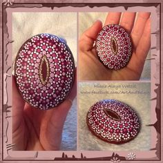 Dot-painted YONI HEALING STONES
