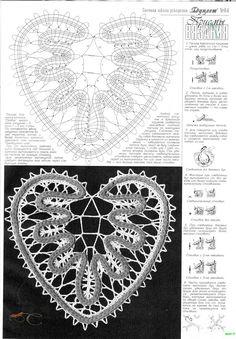 Crochet and arts: crochet motifs Irish Crochet Patterns, Bobbin Lace Patterns, Crochet Motifs, Crochet Doilies, Crochet Lace, Crochet Stitches, Bruges Lace, Romanian Lace, Lacemaking