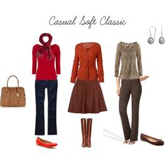 Soft classic pants and tops Soft Classic Kibbe, Classic Looks, Classic Style, My Style, Classic Skirts, Classic Outfits, Casual Outfits, Classic Clothes, Capsule Wardrobe Women