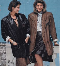 Journey into the past 80s Fashion, Vintage Leather, The Past, Bomber Jacket, Journey, Jackets, Bomber Jackets, Cropped Jackets, Jacket