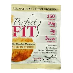 Perfect Cookie Protein Cookie White Chocolate Macadamia 1.41 Oz Case Of 12