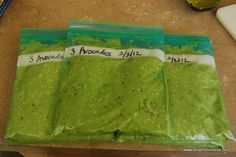 How to freeze avocados. Puree and add one tbspn of lemon or lime juice to prevent browning. Why didn't I try this before?!