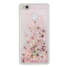 For Huawei P9 lite Case Dynamic Liquid Glitter Star Bling QuickSand Crystal Clear Silicone Case For Huawei P8 lite Cover Coque