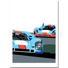 SPEED ICONS: Porsche Return to Le Mans Series No.1 Original Artwork by Joel Clark