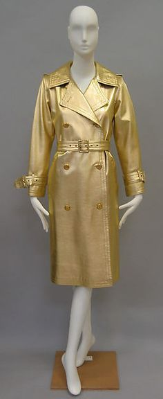 Trench coat - Design House: Yves Saint Laurent, Paris (French, founded 1961) Designer: Yves Saint Laurent (French (born Algeria) Oran 1936–2008 Paris) Secondary Line: Yves Saint Laurent Rive Gauche (French, founded 1966) Date: fall/winter 1980–81 Culture: French Medium: leather, metal Dimensions: Length at CB: 43 in. (109.2 cm) Credit Line: Catharine Breyer Van Bomel Foundation Fund, 2009 BY ANA CLAUDIA CHAGAS MARTINEZ