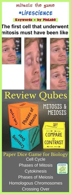 Mitosis The Game Material Science, Science Words, Science Topics, Science Videos, Science Worksheets, Science Curriculum, Science Lessons, Life Science, High School Science, Mitosis Y Meiosis