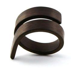 Asymmetrical wood ring