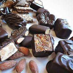 Nuts and chews from @brehmerscandies #chocolate #obsessedwithchocolate #foodie #food #eat #hungry #yummy