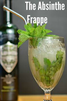 Absinthe Frappe This cocktail uses absinthe for its base spirit – and makes for a bright and refreshing summer classic