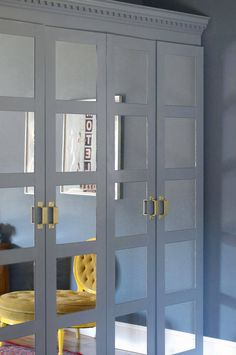 Oh, I like the mirrors on the closet doors.  Jenny Komenda An Ode to the Pax on domino.com