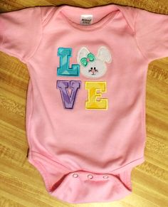 Easter onesie I made for my daughter
