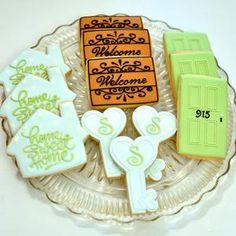 Sugar Cookie Royal Icing, Iced Sugar Cookies, Cupcake Cookies, Cookie House, House Cake, Cookie Designs, Cookie Ideas, Cookie Time, Cookie Decorating