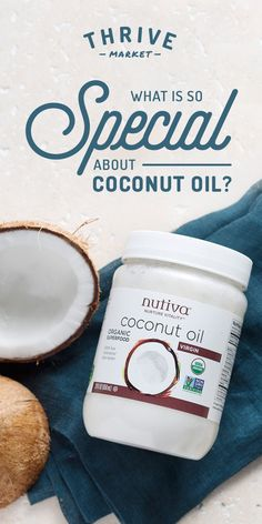 Get your FREE jar of Nutiva organic, virgin coconut oil at Thrive Market today while supplies last! Coconut Oil Hair Treatment, Coconut Oil Hair Growth, Coconut Oil Hair Mask, Healthy Teeth, Healthy Hair, Healthy Life, Oil For Curly Hair, Natural Coconut Oil, Organic Superfoods