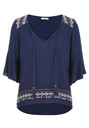 peasant top with emb