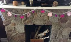 Use extra Shopkins bags and baskets as birthday decorations for the mantle:)