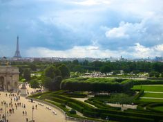 Paris-- view from the Louvre