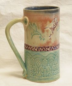 hummingbird ceramic coffee mug 20oz stoneware 20A096 by desertNOVA, $22.00