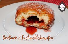 Berliner ohne Ei Vanille Paste, Doughnut, French Toast, Breakfast, Desserts, Food, Plum Jelly, Fritters, Sweet Recipes