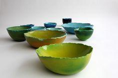 Maarten De Ceulaer - Balloon bowls / bowls hechos de yeso con globos
