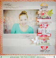 ** Be Mine - Wilna Fursteburg via TwoPeasInABucket 12x12 Scrapbook Layout
