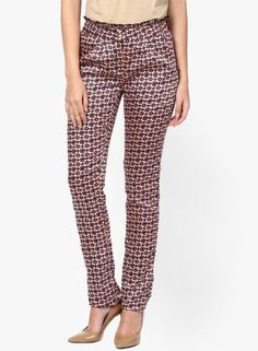 30c61bc671c  vipazza  indianofficefashion  Printed Trousers for work  kaaryah red  printed chinos