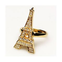 Gold Eiffel Tower Ring