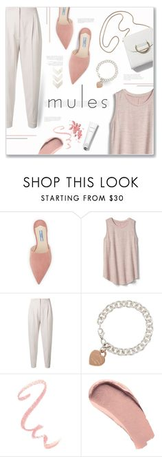 """""""Mules!"""" by lilymillyrose ❤ liked on Polyvore featuring Prada, Gap, MaxMara, Tiffany & Co., Chanel, Burberry and Rodin"""