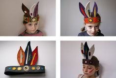 ateliersreinette: CHEZ LES INDIENS Indian Headpiece, Headdress, Peter Pan, Maxis, Kids Dress Up, Indian Party, Baby Costumes, Art Club, Camping Theme