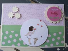 Handmade Belle and Boo Birthday Card