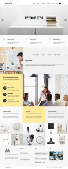 Monica - Multipurpose WordPress Theme #Startups #Corporate #website