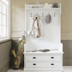 Garderobenmöbel mit 5 Kleiderhaken, B 110 cm, weiß | Maisons du Monde