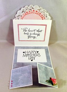 Double Dutch Fold Card for Mother's Day (opened)