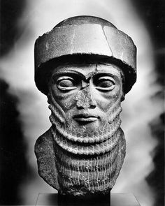 Diorite head discovered at Susa -- believed to represent King Hammurabi (2025-1594 B.C.?) The Louvre, Paris