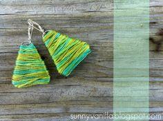 Ensolarado Vanilla: Como fazer grampo de papel brincos