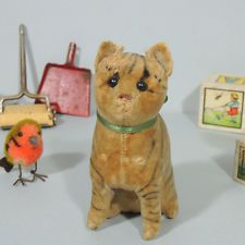 Antique velvet STEIFF Cat sitting early 1900's!